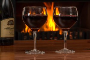 Red Wine By a Fire Can Be a Fast Acting Aphrodisiac